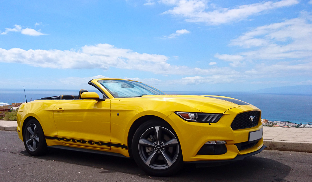 Ford Mustang Yellow AUTOMATIC TENERIFE SPORTS CARS RENT - Automatic sports cars