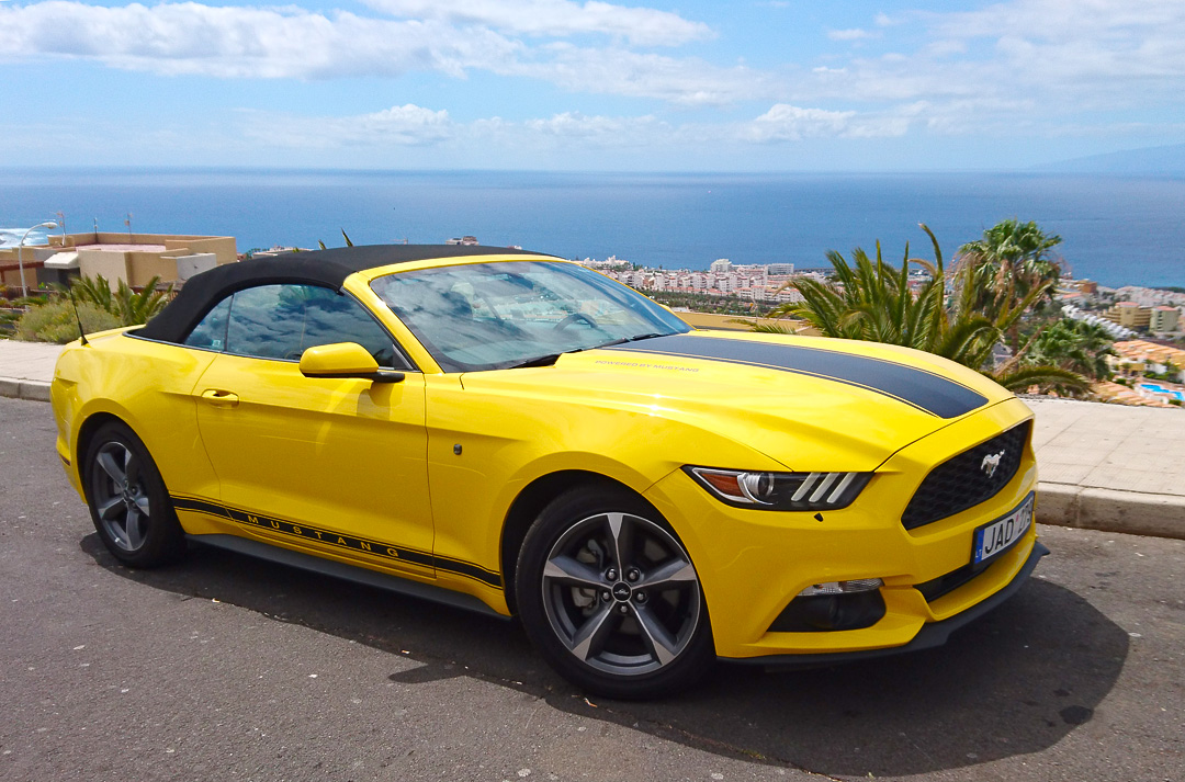Ford Mustang Yellow Automatic Tenerife Sports Cars Rent