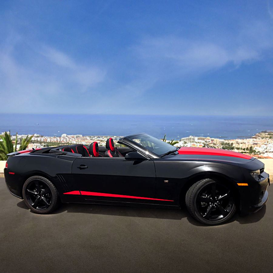 Black Tenerife Sports Cars Camaro Rent