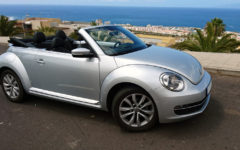 VW Beetle Cabrio SILVER - AUTOMATIC